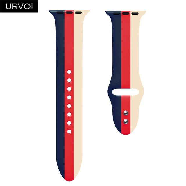 Sport band for Apple Watch series 5 4 3 2 1 Silicone strap for iWatch colorful Soft Replacement AW adapter 38 40 42 44mm