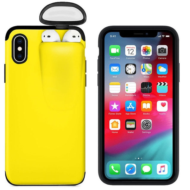 for iPhone 11 Pro Max Case Xs Max Xr X 10 8 7 Plus Cover for AirPods Holder Hard Case Original New Design Hot Sale