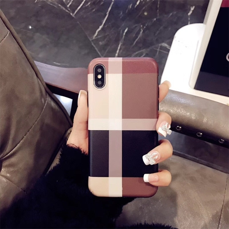 Luxury Fashion Glitter Frosted Lattice Phone Case For IPhone 11 11 Pro 11 Pro Max 6 7 8 Plus X XR XS Max Silicone Back Case