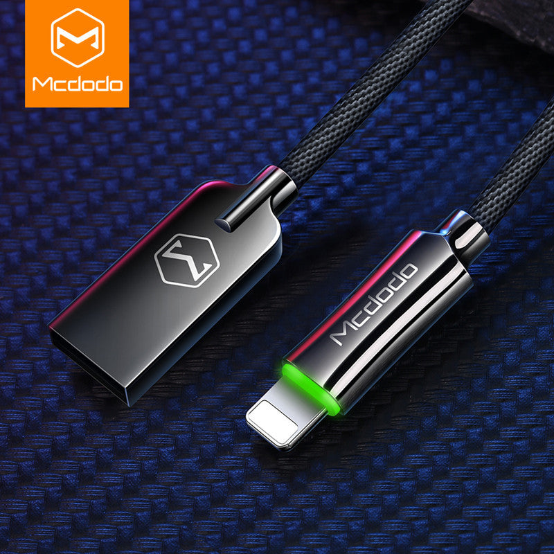 2020 MCDODO 2.4A Auto Disconnect Fast Charging USB Cable LED Data Cable Cord For iPhone 11 Pro Xs Max X 8 7 6 6s S Plus 5
