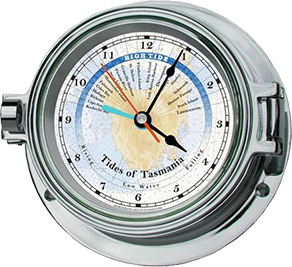 Chrome Tide & Time Clock - TAS