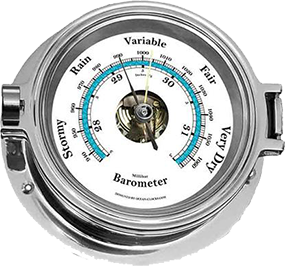 Chrome Barometer - Small