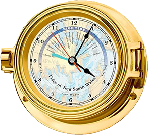 Brass Tide & Time Clock - Small (NSW)