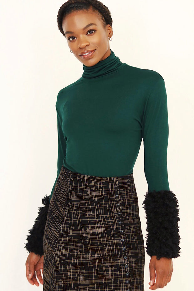 Furry Turtleneck