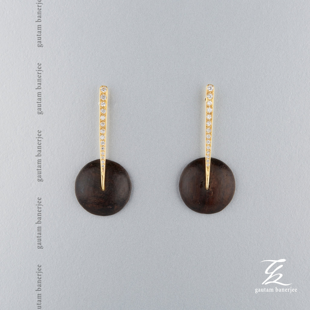 Rose Wood Earrings - E107