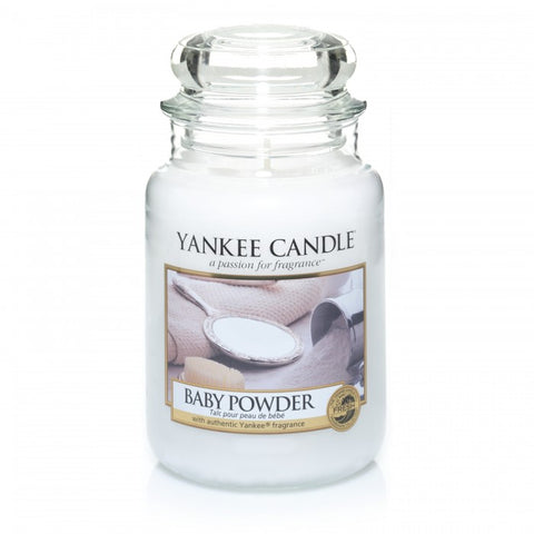 YANKEE CLASSIC LARGE JAR BABY POWDER CANDLE (623G)