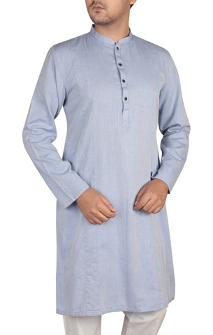Men's Panjabi FLORAL BLUE