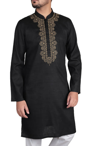 Men's Panjabi SEPIA BLACK