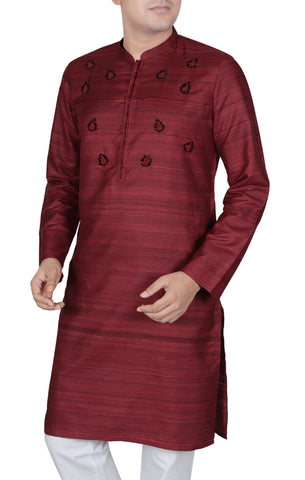 Men's Panjabi RED GOLD