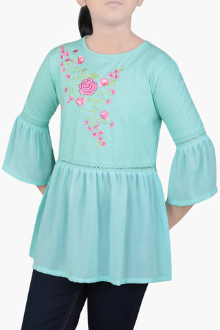 Junior Girls' Knit Fashion Top (10-15 Years)