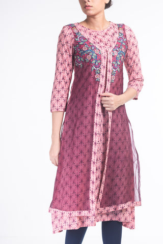 W ETHNIC BRIDE ROSE PRINTED