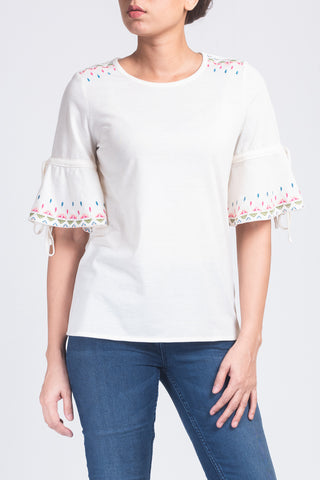 Women's Embroidered Tee Shirt