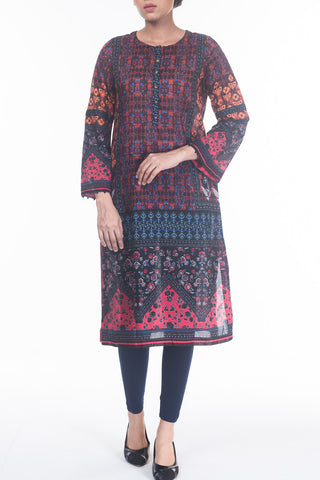 Women's Floral Digital Printed Kurti