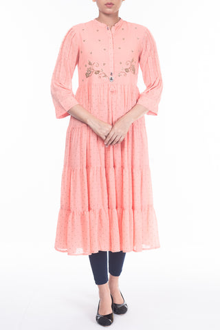 Women's Tiered Semi-Formal Kurti