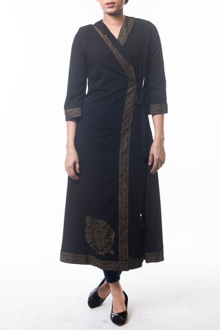 WOMENS LONG DRESS BLACK