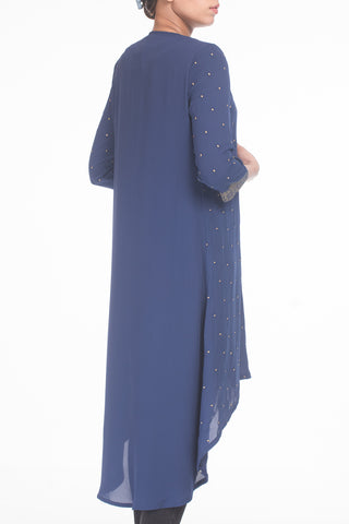 WOMENS LONG DRESS R BLUE