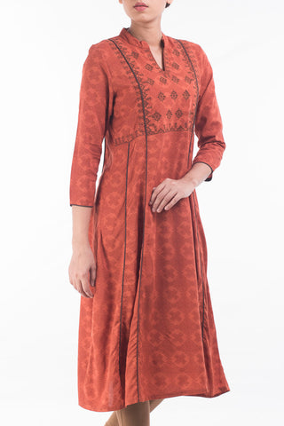 Printed With Embroidered Women's Ethnic Top