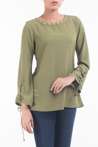 Women's Evening Top GREEN