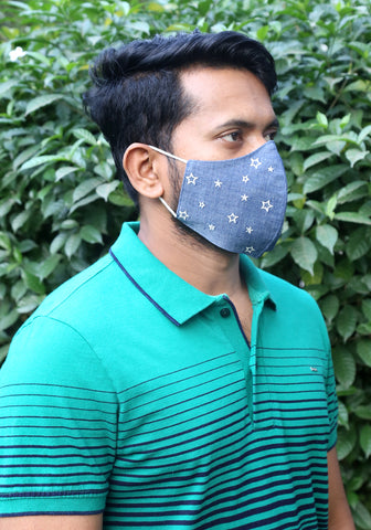 Denim Fashion Zodiac Mask