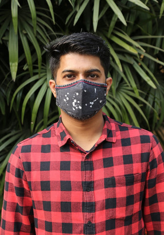 Bleach Spotted Denim Mask