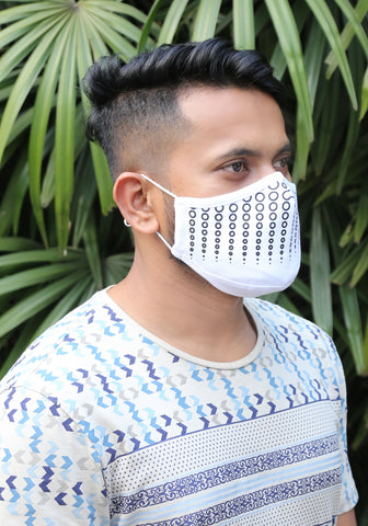 Printed Knit Fashion Mask