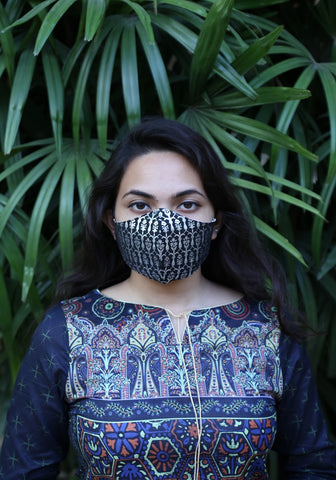 Metallic Printed Fashion Mask