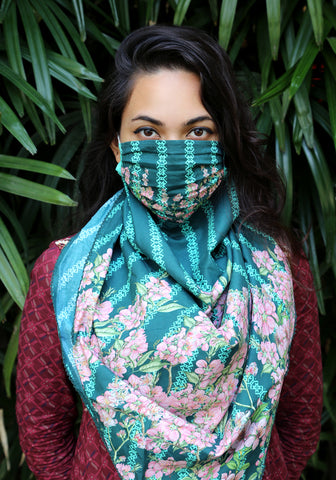 Scarf Woven Printed Fashionable Mask