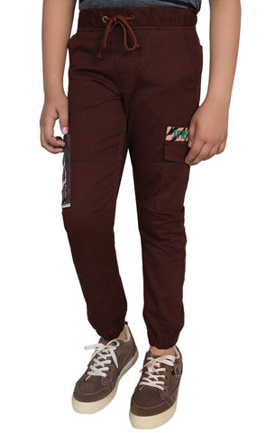 Junior Boy's Twill Trouser COCOA BEAN