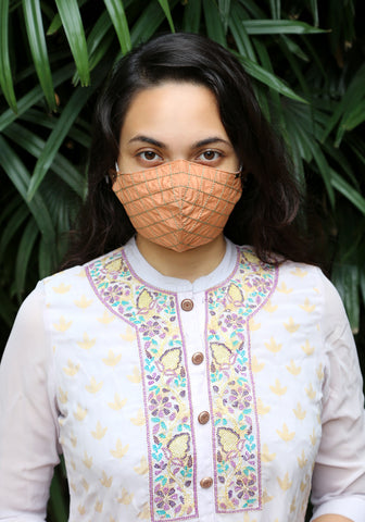 Embroidered Woven Fashion Mask