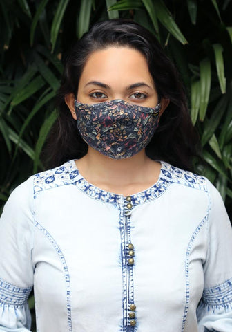 Printed Knit Fashion Mask - 5-Piece Pack