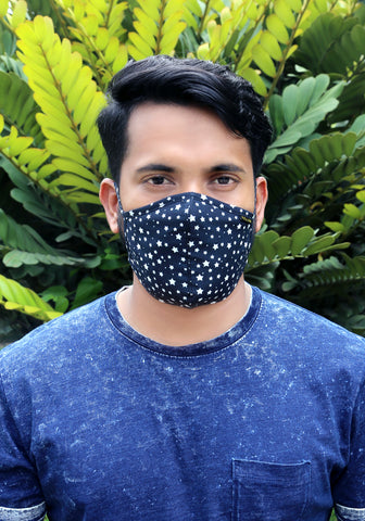Printed Woven Fashion Mask ORB