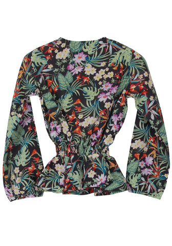 Forest Printed Girls Woven Top