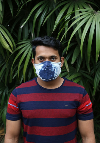 Tie Bleach Denim Mask