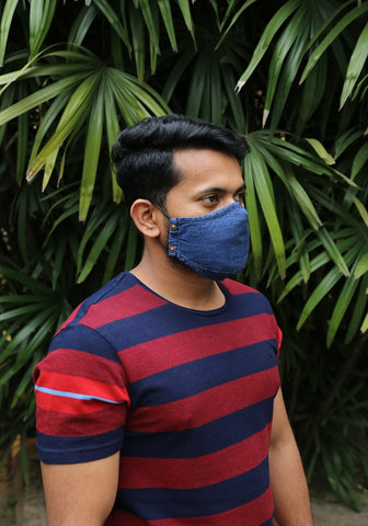 Laser Printed  Denim Mask