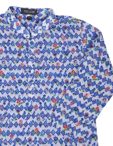 Boys Panjabi BLUE PRINTED