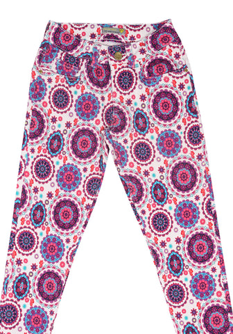 J Girls Twill Bottom RED PRINTED