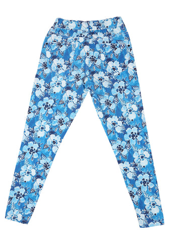 J Girls Twill Bottom BLUE PRINTED