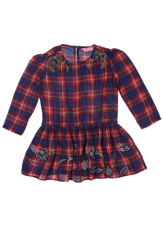 J Girls Evening Top BLUE & RED