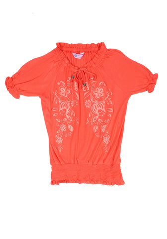 J Girls Knit F Top ORANGE