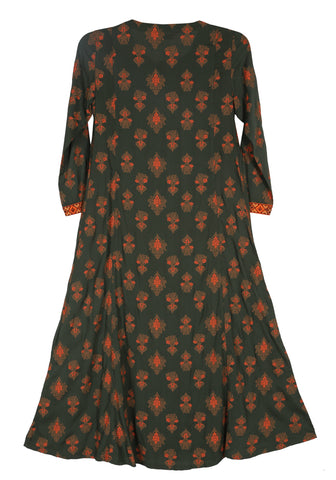 J Girls Ethnic ANTHRACITE PRINTED