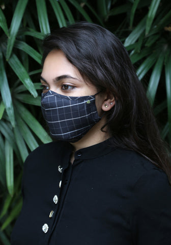 Triple Layered Protective Mask with Replaceable Filters