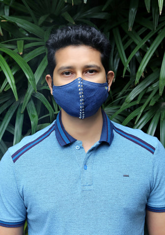 Denim Fashion Mask Indigo