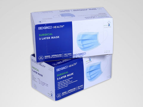 Surgical 3-Layer Mask (2-Pack Combo, 100 Pieces) - Blue