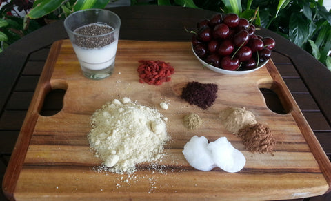 Cherry Festive Pudding ingredients