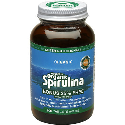 Green Nutritionals Mountain Organic Spirulina Tablets
