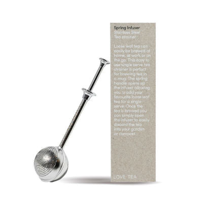 Love Tea Spring Infuser Stainless Steel Tea Strainer
