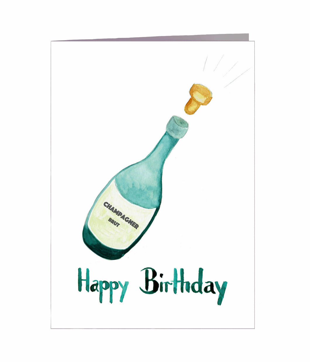 Geburtstagskarte | Happy Birthday | Champagner