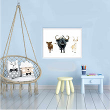 Laden Sie das Bild in den Galerie-Viewer, Kinderposter | Print | Kinderzimmerdeko | Safari Tiere | DIN A4