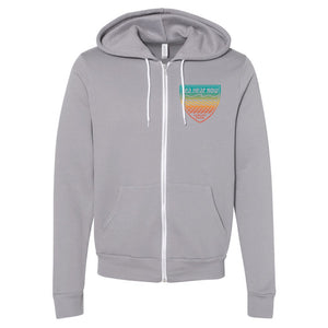 Logo Badge Zip-up Hoodie