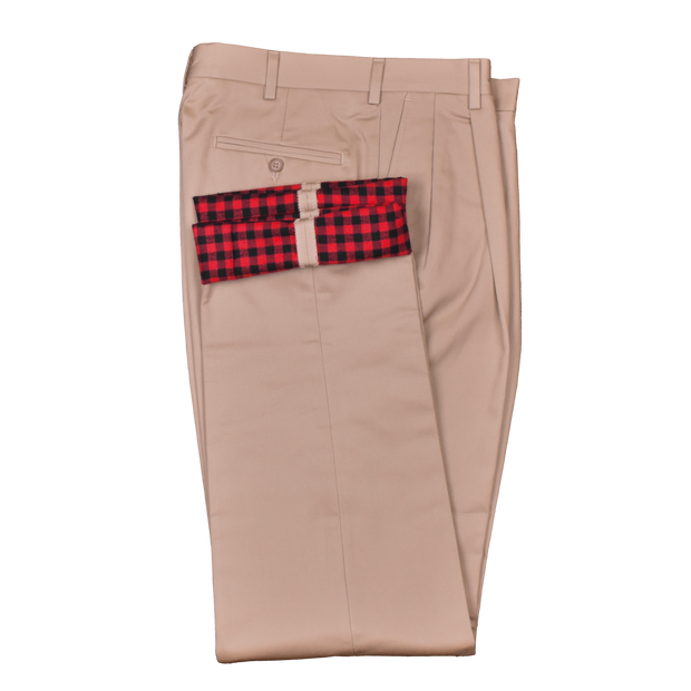 Flannel Lined Performance Khaki<br>Pleated<br>Regular Rise